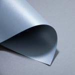 Metallics gebürstet 120 g DIN A4 | Chrom