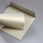 Metallics gebürstet Hüllen 155 x 155 mm Gold