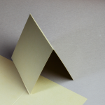 Metallics gebürstet Karten 150 x 150 mm hochdoppelt Gold