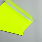 Ultra Neon Hüllen DIN lang | Neon Gelb | ohne Fenster