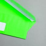 Ultra Neon Hüllen DIN lang | Neon Grün | mit Fenster