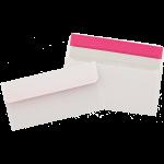 Papiermeister Briefhüllen, DIN lang, 100 Stück, weiss mit grauem Innendruck, o. Fenster