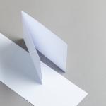 Karten Weiß A6 querdoppelt