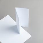 Karten Weiß DIN Lang Wickelfalz/2xgerillt