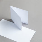 White cards 115 x 115 mm