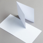 White cards 155 x 155 mm