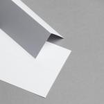Tischkarten Weiß - 86 x 105 mm