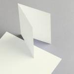 Cartes ivoire A6 double haut