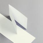 Cartes ivoire A6 double transversal