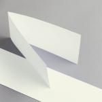 Cartes ivoire DIN long double transversal