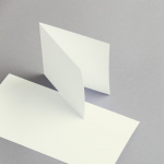 Cartes ivoire 115 x 115 mm double