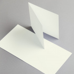 Cartes ivoire 155 x 155 mm double