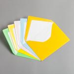 Farbige Briefhüllen DIN C6 mit Futter