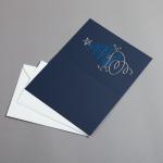 Blau geprägte Weihnachtsgrüße Packungsgröße