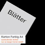Karton Farbig A4