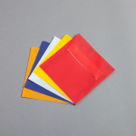 Transparent coloured envelopes 125 x 125 mm