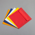 Transparent coloured envelopes 160 x 160 mm