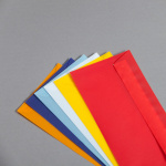 Transparent coloured envelopes DL
