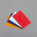 Transparent coloured business card envelopes