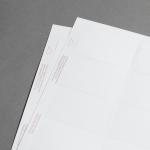 Promaxx Visitenkarten Weiß, spitze Ecken