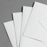 Natural white lined envelopes