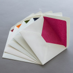 Cream envelopes B6 with coloured lining