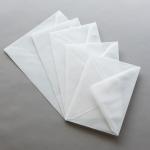 Transparent Premium Briefumschläge nassklebend