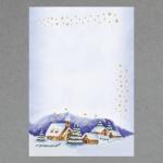 Winterliches Dorf A4