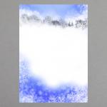 Eiskristalle und Winterlandschaft