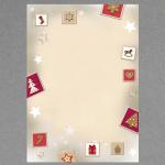Rot-weiße Weihnachtssymbole