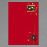 Weihnachtsstern Rot A4