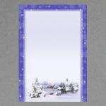 Petit village sous la neige A4