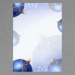 Boules de Noël bleues A4
