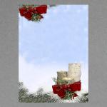 Kerzen mit roter Schleife A4