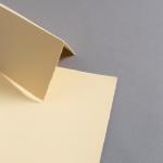 Büttenkarten hochdoppelt Butter Cream 115 x 170 mm