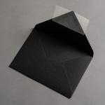 Colorplan Buste DIN B6 lembo di chiusura appuntito Nero