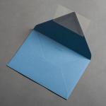 Colorplan Hüllen DIN B6 spitze Klappe Stahlblau
