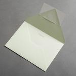 Colorplan Buste DIN B6 lembo di chiusura appuntito Verde pistacchio