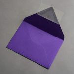 Colorplan Buste DIN B6 lembo di chiusura appuntito Viola