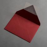 Colorplan Enveloppes DIN B6 Rouge foncé