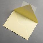 Colorplan Buste DIN B6 lembo di chiusura appuntito Giallo chiaro