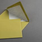 Enveloppes vergé vert pistache DIN B6 avec doublure