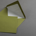 Enveloppes vergé vert olive DIN B6 avec doublure