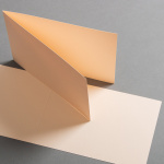 Cartes de couleur 120 x 169 mm, double transversal Vanilla