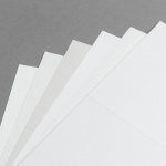 Cartes Metallics scintillantes 150 x 150 mm double haut