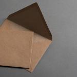 Kraftpapier Muskat Briefumschläge C6 nassklebend