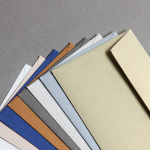 Enveloppes Metallics brossé DIN long
