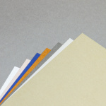 Metallics brushed cards 150 x 150 mm half-fold, portrait