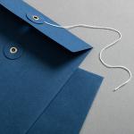 Enveloppe C5 avec rondelle par ficelle en bleue