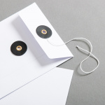 Envelope C6 White with black string and washer